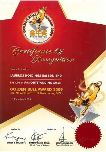 Certificate-Golden-Bull-Award-(2009)